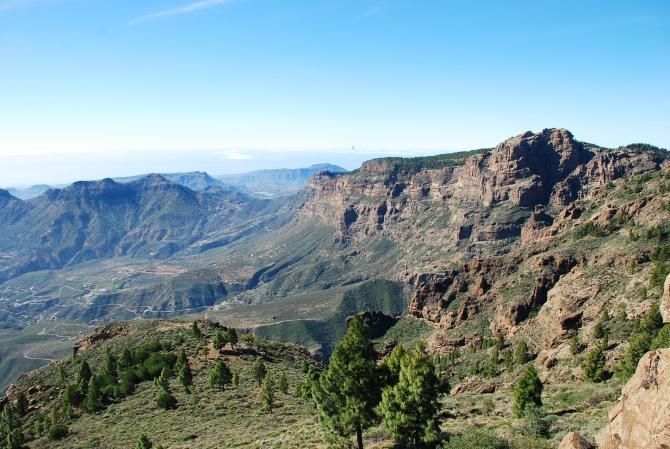 Blick von Los Pechos Richtung Westen.