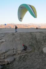 "Paragliding Fluggebiet Nordamerika » USA » Utah,The Point of the Mountain (PotM),Viele Piloten beherrschen das ""Kiten"" hier perfekt!"