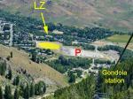 Paragliding Fluggebiet Nordamerika » USA » Idaho,Mt. Baldy,LZ - Parking - Gondola station: all close together