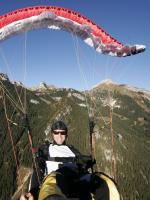 Paragliding Fluggebiet Europa » Österreich » Tirol,Bergstation Sonnwendjochbahn / Rosskogel,Fullstall, Location: Rofan, Glider: Swing Cirrus 4,  Foto:  SKY-ART, Christian Gruber