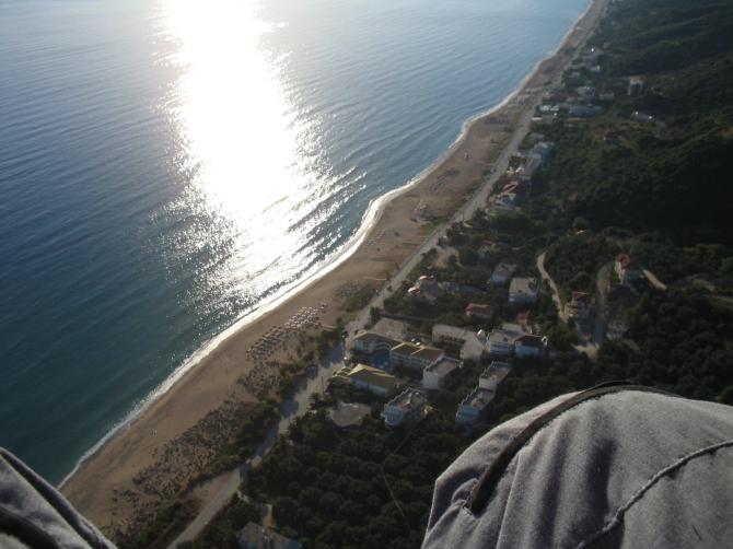 Landeplatz und Strand von Vrahos