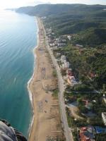 Paragliding Fluggebiet ,,Landeplatz und Strand von Vrahos