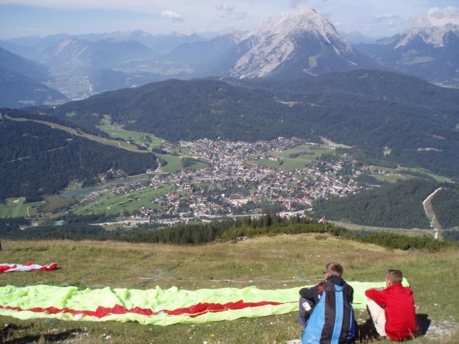 Startplatz mit Blick auf Seefeld.