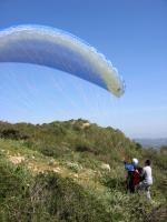 Paragliding Fluggebiet Europa » Spanien » Balearen,Puig de Randa,Gerade genug Platz um auszulegen!