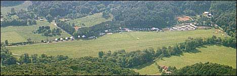 Blick über den Landeplatz.