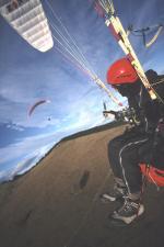 Paragliding Fluggebiet Europa » Österreich » Steiermark,Heulantsch,Heimo (vorne) mit Garry im Nov.02 am Heulansch.