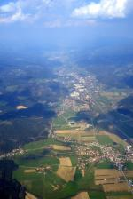 Paragliding Fluggebiet ,,Hoch über dem Mürztal Blickrichtung Osten