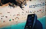 Paragliding Fluggebiet Europa » Griechenland » Westliches Griechenland (Küste und Inland),Kathisma,Achtung im Sommer ist der Strand voller Sonnenanbeter.