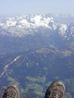 Paragliding Fluggebiet Europa » Österreich » Salzburg,Trattberg,unterwegs Richtung Dachstein