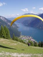 Paragliding Fluggebiet Europa » Österreich » Tirol,Zwölferkopf,Abflug vom Startplatz Karwendelbahn