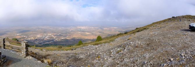 Pano am SP, Blick Ritg Nord (nach Granada)