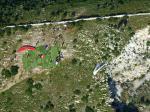 Paragliding Fluggebiet ,,SP Rechts, Achtung bei dem Steinbruch