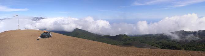 Panorama vom Gipfel des Pico Birigoya. Blick Richtung NO - Sta Cruz de la Palma