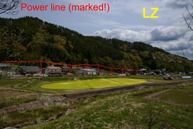 LZ: gut markierte Stromleitung