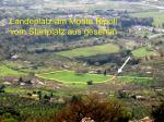 Paragliding Fluggebiet Europa » Italien » Latium,Tivoli - Colle Ripoli / Monte Ripoli,Colle Ripoli bei Tivoli: Der Landeplatz von oben aus gesehen, ca WNW.