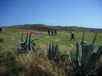 wie fast überall auf Madeira kommen die Nichtwanderer unter den Fliegern hier voll auf ihre Kosten, nach 10 Metern Wanderung kann das Fluggerät in Betrieb genommen werden ;-)
