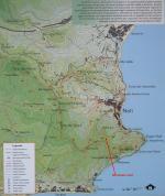 Paragliding Fluggebiet ,,Karte der Wanderwege.
