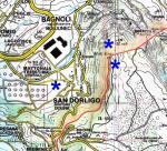 Paragliding Fluggebiet ,,Man beachte die Landesgrenze IT-SI !   Karte©www.centrofriulanoparapendio.it