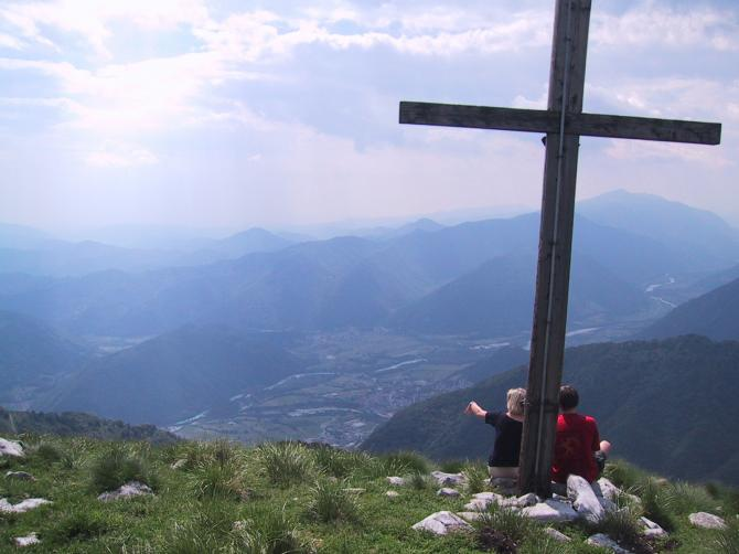 Blick vom Gipfel nach Tolmin