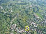 Paragliding Fluggebiet ,,Der Landeplatz in Gemona ist gestrichelt eingezeichnet. Der Fliegertreff ist gelb eingeringelt.