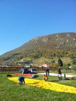 Paragliding Fluggebiet Europa » Italien » Friaul-Julisch Venetien,Bernadia,Landeplatz blick Richtung La Bernadia