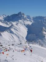 Paragliding Fluggebiet Europa » Österreich » Vorarlberg,Diedamskopf,30.01.05 Didi-Cup,  unterer Startplatz