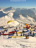 """Paragliding Fluggebiet Europa » Österreich » Vorarlberg,Diedamskopf,Rush-hour beim """"Didi-Cup """""""