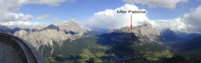 Blick von der Tofana Richtung SE: Cortina und Mte Faloria