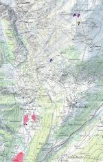 Paragliding Fluggebiet Europa » Schweiz » Wallis,Steibenkreuz-Bellwald,Keine Frage: Wer in diesem Gebiet fliegt, der braucht nicht nur diesen Ausschnitt, sondern die ganze Karte! Blatt 2516, Aletschgebiet, 1:25000