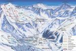 Paragliding Fluggebiet Europa » Italien » Trentino-Südtirol,Sulden am Ortler,Pistenplan von Sulden Die Kanzel ist links im Bild UNTEN, der Startplatz Schöntaufspitze OBEN links