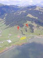 Paragliding Fluggebiet Europa » Schweiz » Schwyz,Euthal,Start -und Landeplätze; die Starts sind bequem zu Fuss erreichbar (P -am rt Bildrand)