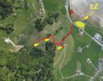 Paragliding Fluggebiet Europa » Schweiz » Schwyz,Euthal,Übersicht (2020) mit P und Anstieg zu den möglichen SP