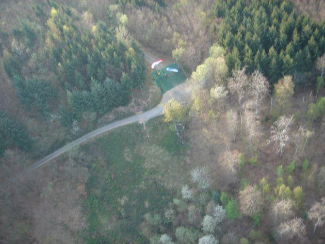 Blick auf den Auslegeplatz und die Schneise aus der es raus geht @04/2007
