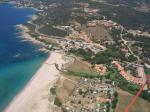 Paragliding Fluggebiet ,,Landeplatz zwischen Strand und Campingplatz