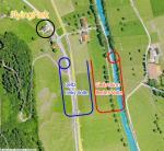 Paragliding Fluggebiet Europa » Schweiz » Nidwalden,Stanserhorn,Übersicht mit Anflugskizze für Flying Park. Achtung Landeprocedere unbedingt genauestens befolgen, nicht höher als 150 Meter über dem landeplatz fliegen.