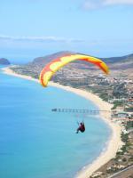 Paragliding Fluggebiet Europa » Portugal » Madeira,Porto Santo Portela,Porto Santo, stundenlanges Soaring über endlosem goldgelben Sandstrand