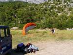 Paragliding Fluggebiet Europa » Kroatien,Makarska/ Biokovo,Landeplatz Makarska – Ich empfehle jedem Flieger vor dem Flug den Landeplatz etwas genauer unter die Lupe zunehmen, damit man weiß wie man richtig einzuparken hat.  (c) VinBur