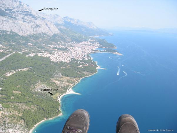Ein schöner Ausblick über die Makarska Riviera von oben.  (c) VinBur