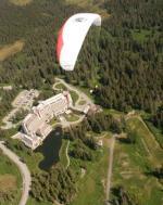 Paragliding Fluggebiet ,,Das Alyeska Prince Hotel von oben.
