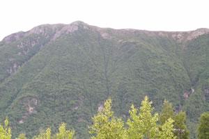 Blick von der Landezone auf den Bear Mt.