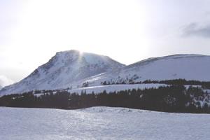 Blueberry Hill und der daneben liegende Flat Top.