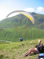 Paragliding Fluggebiet Nordamerika » USA » Alaska,Bodenburg Butte,Abflug am Summit Lake.