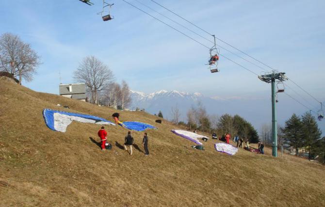 Decollo Alpe Lusentina
