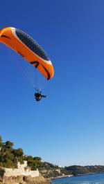 Paragliding Fluggebiet ,,Landing golf bleu 07.12.19