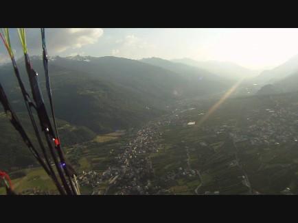 Flug über dem Veltlin