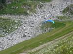 Paragliding Fluggebiet Europa » Schweiz » Uri,Staudamm Göscheneralpsee,Auf dem Weg zur Landung.