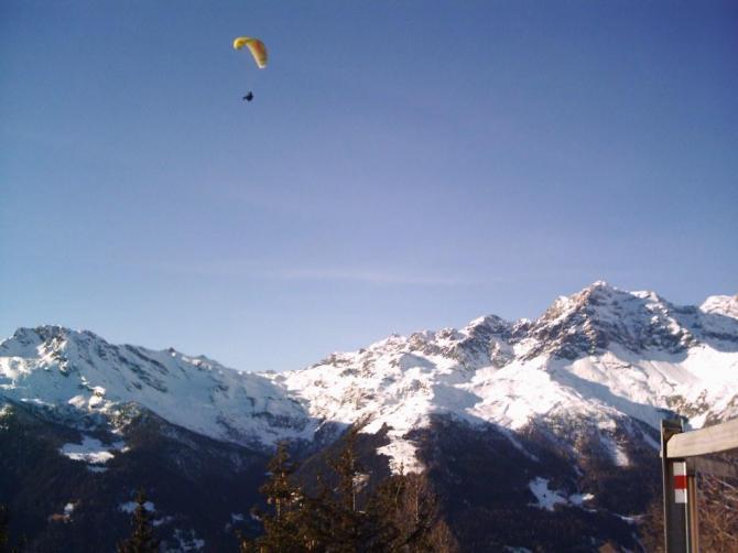 Foto vom Startplatz Sassiglion. ->Höhe machbar am 28.12.2006!!