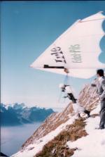 Paragliding Fluggebiet Europa » Schweiz » Vaud,Rochers de Naye, Jaman, Soncheaux,Drachenfliegen am Rochers de Naye Okt. 1980...