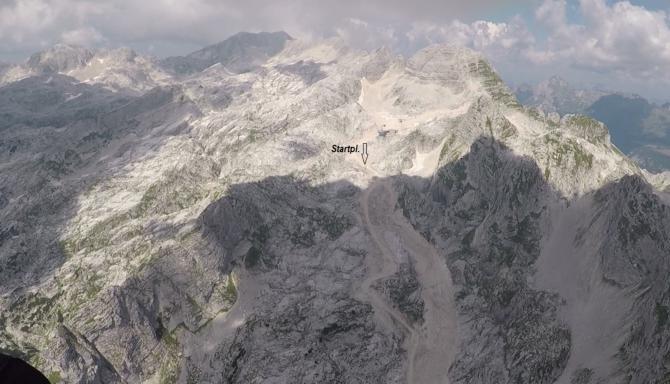 Startplatz unterhalb der Bergstation auf ~ 2100m