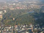 Paragliding Fluggebiet ,,Stadtpark und Umgebung von oben.